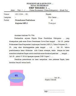 surat permohonan untuk pembukaan kegiatan mpls kepada camat