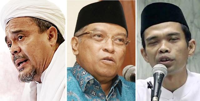 10 Ulama Populer, UAS, Said Aqil dan Habib Rizieq Bersatu Lawan Corona, Tiadakan Salat Jumat