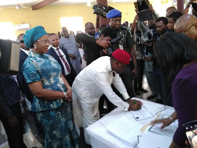 INEC presents certificate of return to Okowa