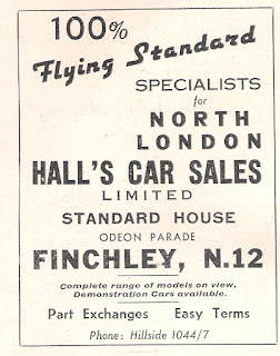 Hallls of Finchley advert from Autocar 30 April 1937