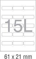 Novajet A4 Size Multipurpose Self Adhesive Label 100 Sheet  with Free Label Printing Software
