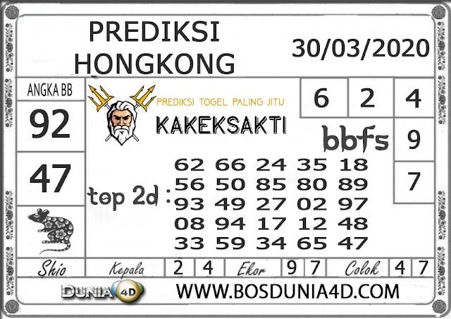 Prediksi Togel HONGKONG DUNIA4D 30 MARET 2020