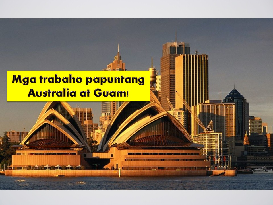If you are planning to apply for work abroad, this post might help you! The following are job opportunities for Australia and Guam.  The following jobs orders are taken from the website of the Philippine Overseas Employment Administration (POEA).  Guam is in need of Filipino workers particularly mason, engineers, metal workers, and carpenters while Australia is in need of dairy farmers, welder, fitter, mechanic and many others! Check the available job orders on the list!  Jbsolis.com is NOT a recruitment agency and we are NOT processing nor accepting applications for jobs abroad. All information in this article is taken from the website of POEA — www.poea.gov.ph for general purposes only. Recruitment agencies are being linked to each job order so that interested applicants may know where to coordinate and apply for their desired position.  Interested applicant may double-check the job orders as well as the license of the hiring recruitment agencies in the POEA website to make sure everything is legal.