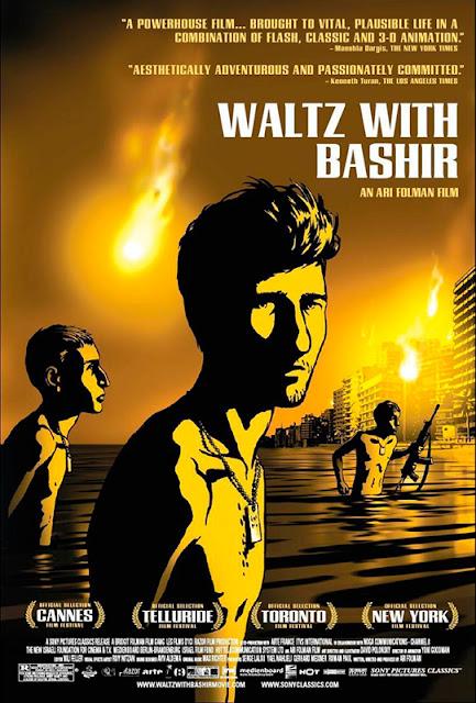 Cartel de la película de animación documental Vals con Bashir