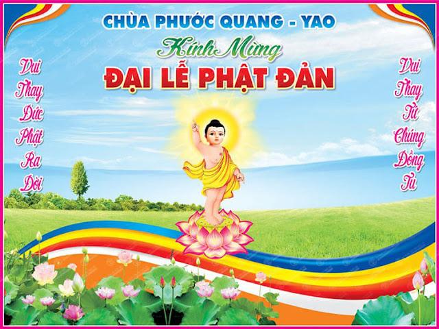 in ấn  PP, Decal, pano Băng Rôn Phật Đản 2018 Giá Rẻ