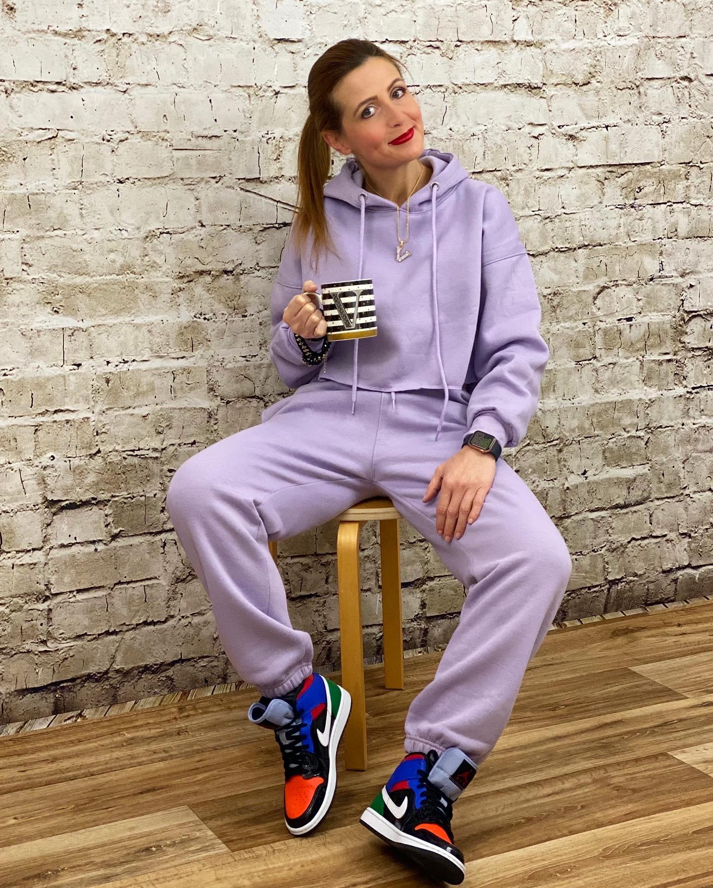 Lilac tracksuit, Femmeluxe loungewear