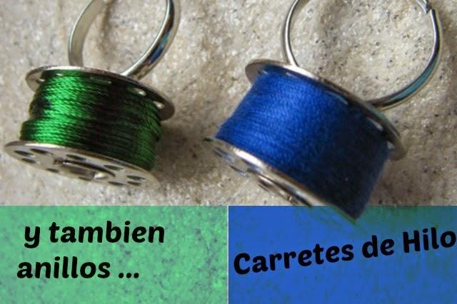 pendientes, bisutería, carretes, hilos, ovillos, lanas, manualidades
