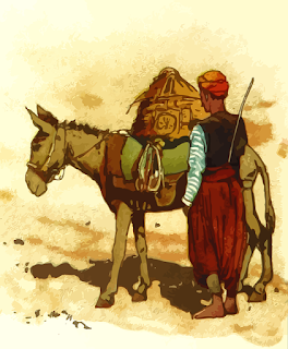 Kuda dan Keledai yang Sarat dengan Beban (Halaman 96)