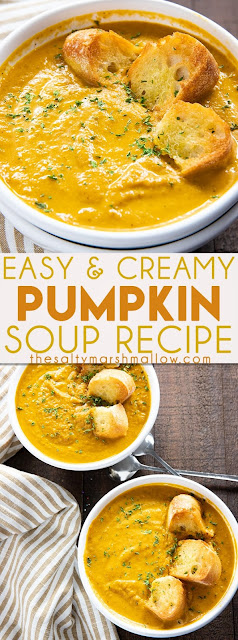 Cooking from scratch with an easy recipe for pumpkin soup.