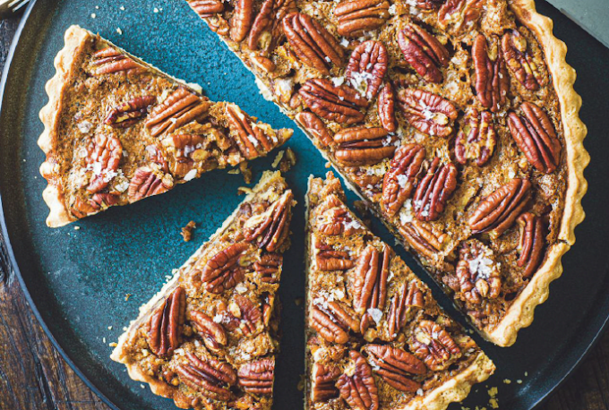 Salted butter pecan pie