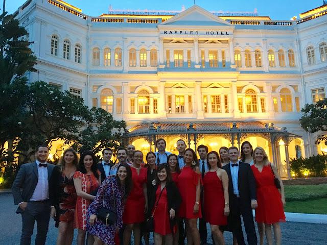 diner au Raffles Hotel Singapour