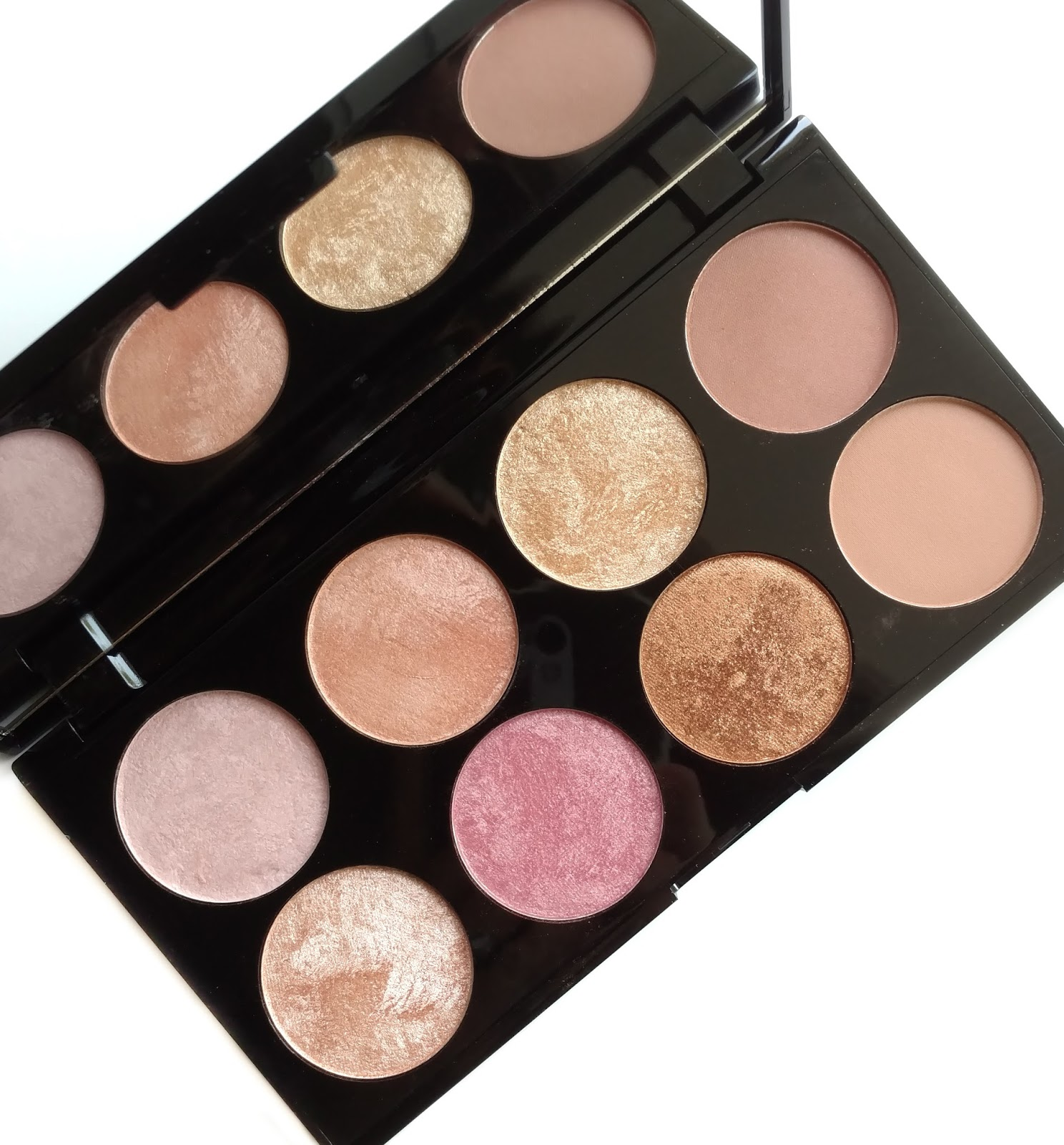 Your typical blush palette doesn't normally have enough variation of shades to be used on the eyes but this one gives you two matte transition/crease colors ...