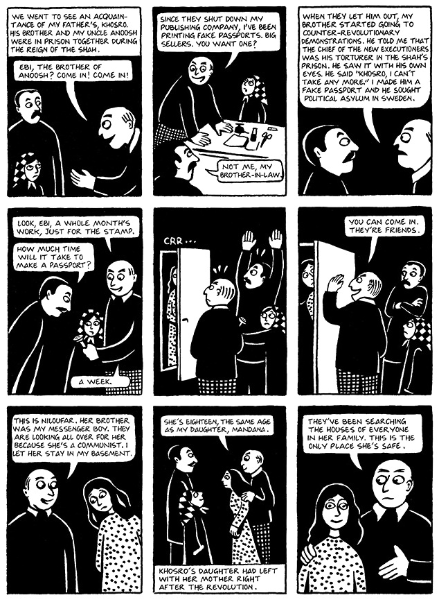 Read Chapter 16 - The Passport, page 121, from Marjane Satrapi's Persepolis 1 - The Story of a Childhood