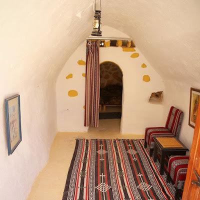 Habitación del hotel de Ksar Haddada