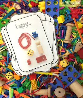 i spy sensory bin, learning sensory bin, sensory fun, seonsory play, i spy play