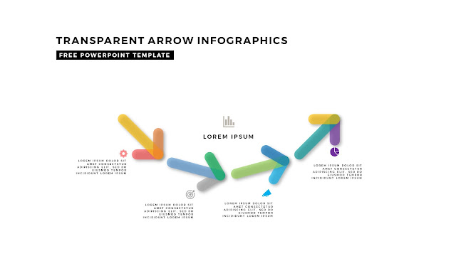 Transparent Arrow Design Elements for Free PowerPoint Template Slide 6