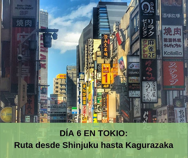 Ruta por Tokio Shinjuku y Kagurazaka