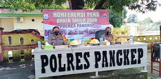 Release Akhir Tahun, Kapolres: Gangguan Kamtibmas dan Laka Lantas Menurun