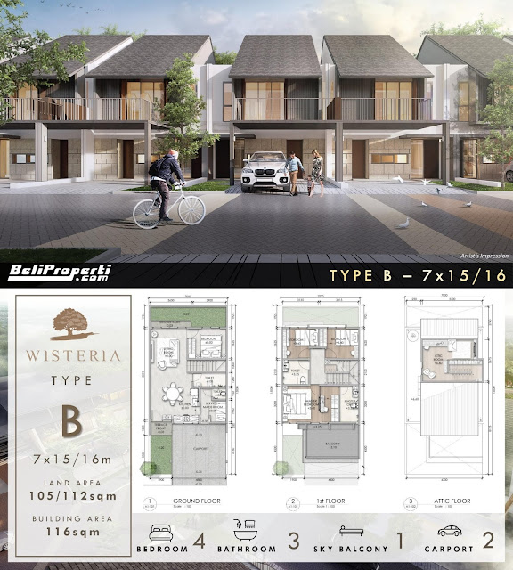 layout rumah wisteria phase 2