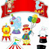 Baby Circus Free Printable Cake Toppers.