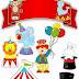 El Circo Bebé: Toppers para Tartas, Tortas, Pasteles, Bizcochos o Cakes para Imprimir Gratis.