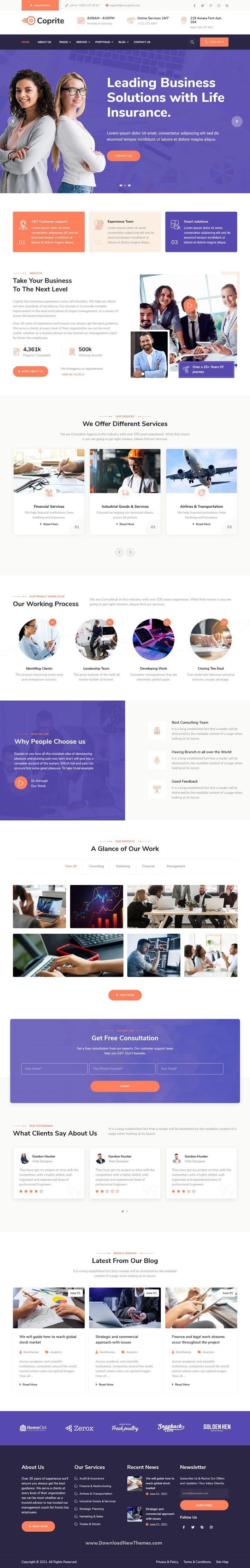 Multipurpose Business HubSpot Theme