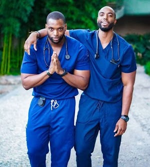 Checkout Cute Pictures Of A Nigerian Twin Brothers Who Are Nurses & Body Builders In US (photos)