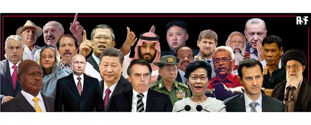 """RSF presenta la lista de """"depredadores de la libertad de prensa"""" 2021"""