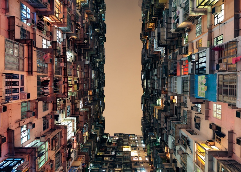 The 100 best photographs ever taken without photoshop - Residential area in Hong Kong