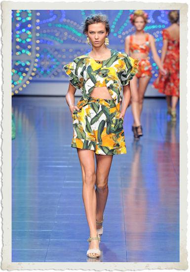 abito zucchine Dolce&Gabbana PE12
