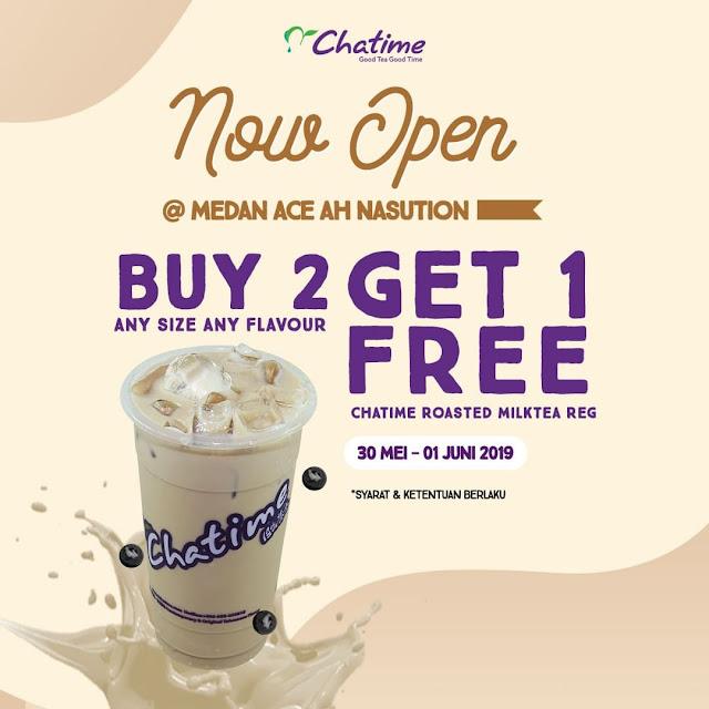 #Chatime - #Promo Opening Buy 2 Get 1 Free di Medan Ace Ah Nasution (s.d 01 Juni 2019)