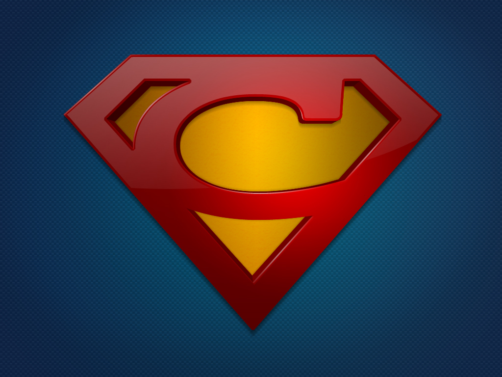 Superman Logo Bw Vector Game