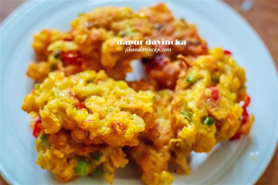 Dapur Davincka Resep Perkedel Jagung Tumbuk