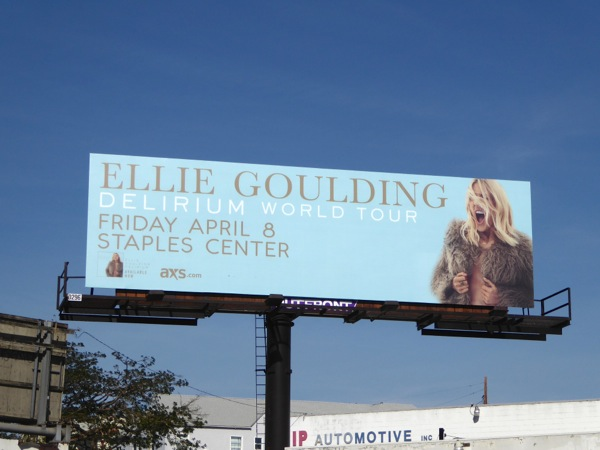 Ellie Goulding Delirium World Tour LA billboard