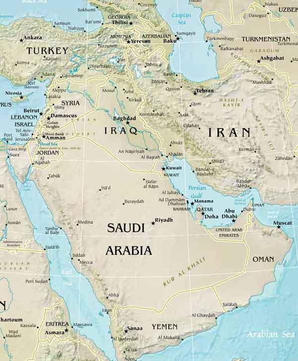 East Asia Meets The Southwest: West Asien Karte