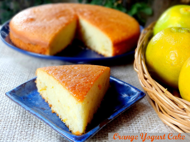 Low Fat Yogurt Cake Recipes: AMBROSIA: Low Fat Orange Yogurt Cake