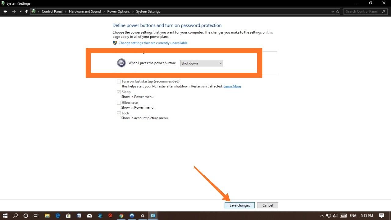 How To Shutdown Windows 10 Computer With Power Button   in Telugu