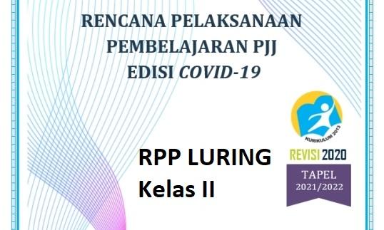 RPP Pembelajaran Luring SD Kelas 2 Kurikulum 2013