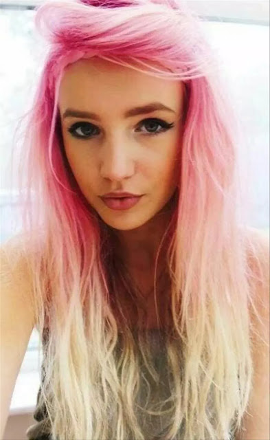 pastel pink and yellow ombre hairstyle