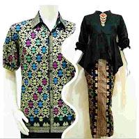 Batik Pasangan Marlyn Couple Gamis Kebaya Modern Hitam