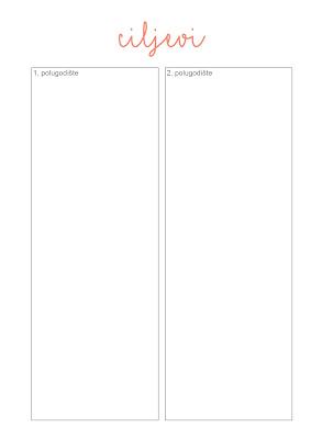 Planer za školu - besplatni predlošci
