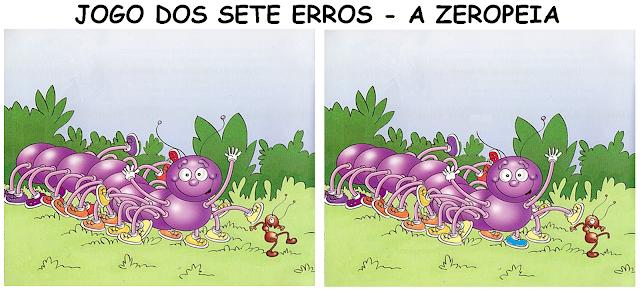Jogo dos sete erros - Livro A ZEROPEIA