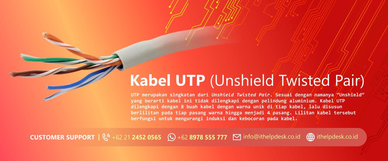 Apa itu kabel UTP? Berikut dengan Fungsinya!