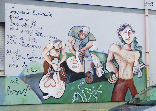 Mural pastor d'Orgosolo estil Picasso
