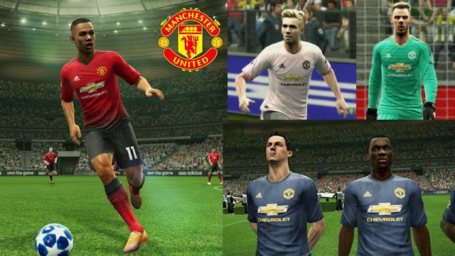 40ef798caaf Manchester United Kits 2018-2019 V2.5 - PES 2013 - PATCH PES