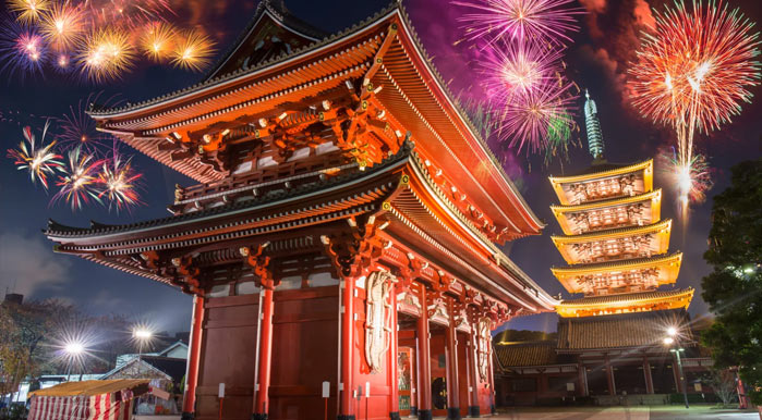 New year eve in Tokyo