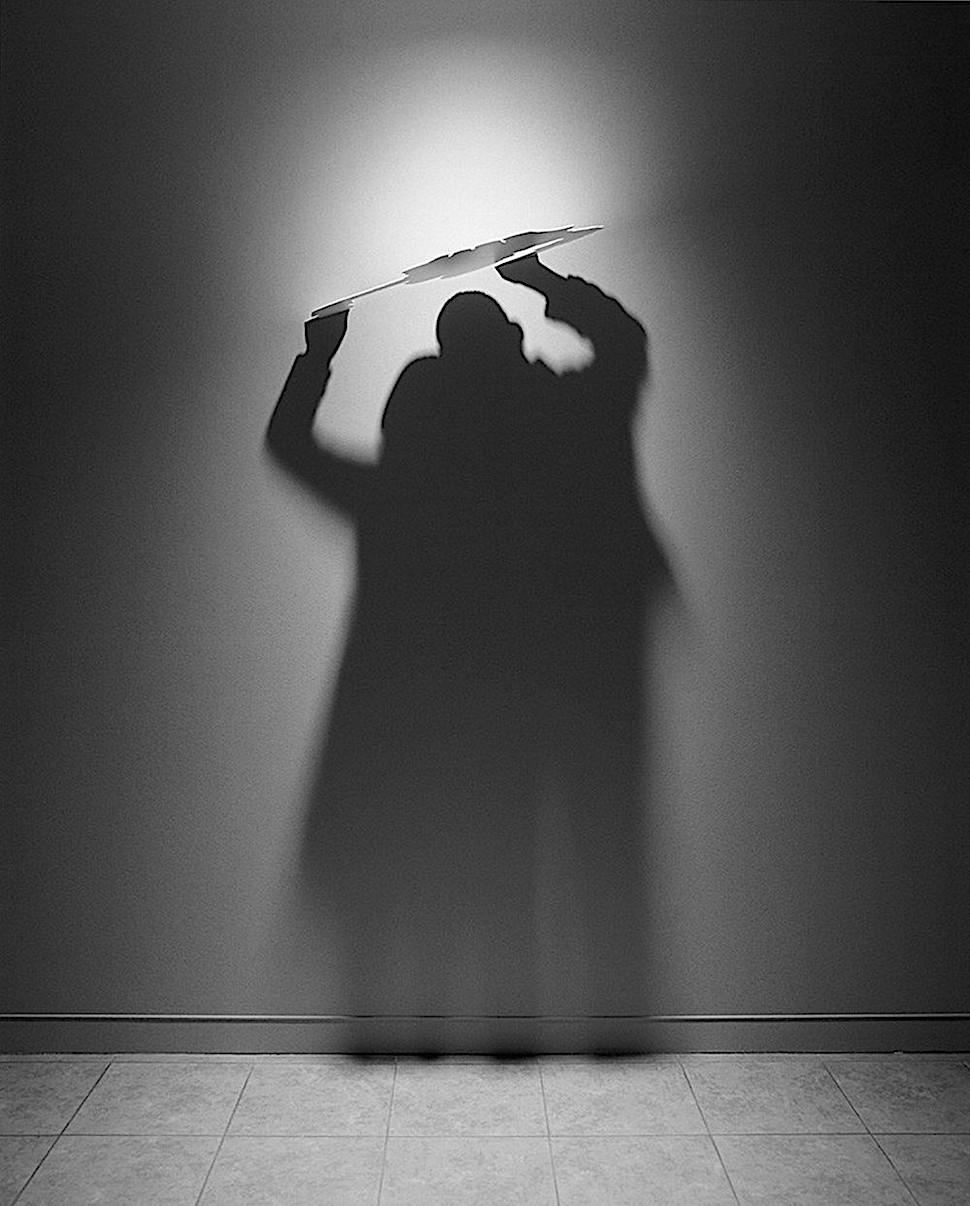 an art installation by shadow artist Kumi Yamashita