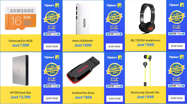 Flipkart Big Billion Days - Electronics & Accessories Offers