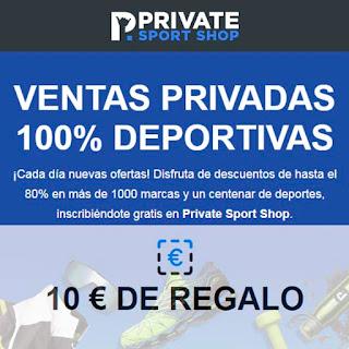 10€ de regalo en Private Sport Shop