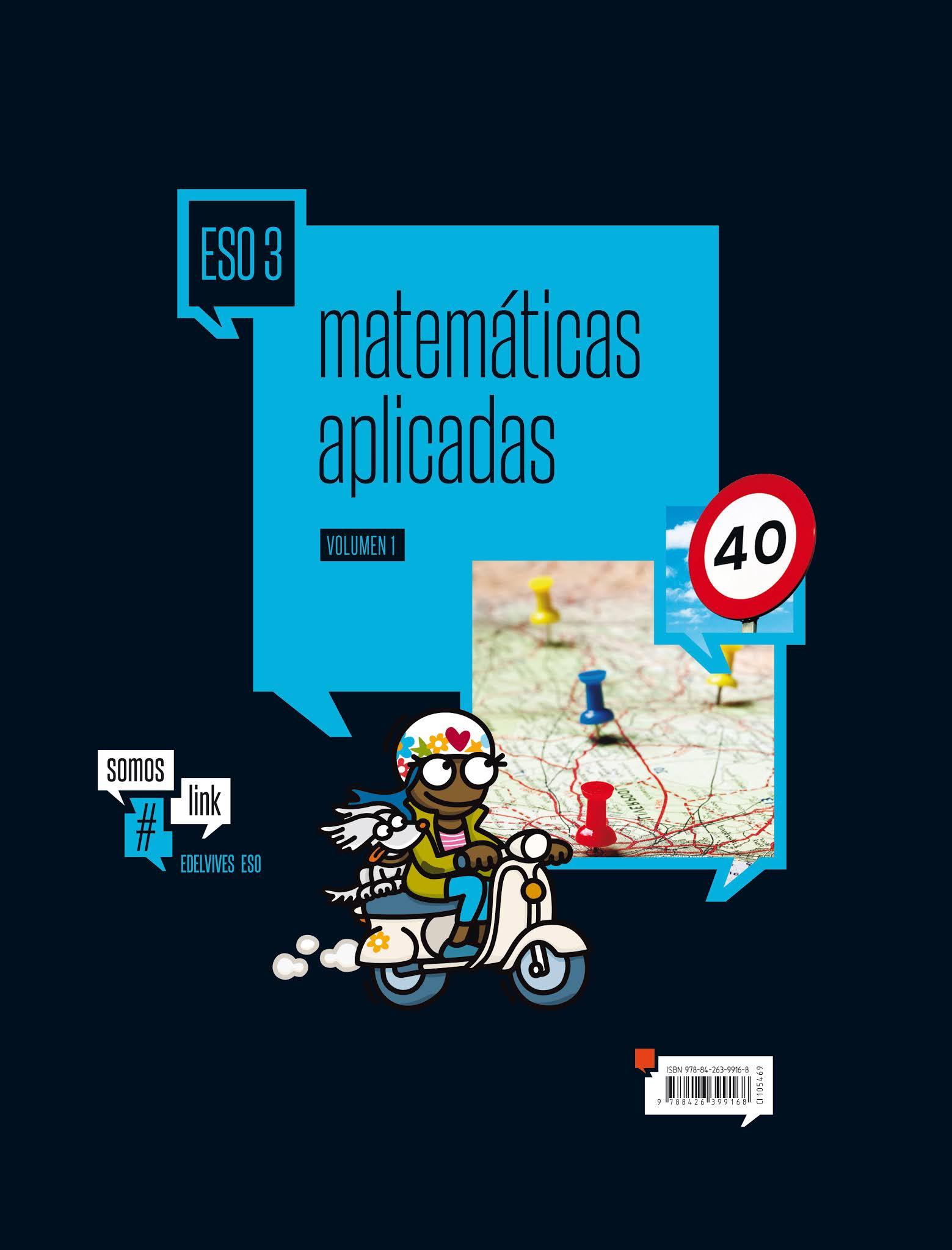 Libro Matemáticas Aplicadas 3º ESO Edelvives Proyecto #somoslink